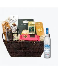 Gift Basket Grey Goose Vodka