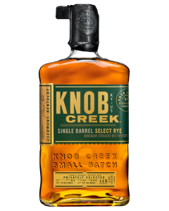 Knob Creek Single Barrel Select Rye 115 Proof Whiskey